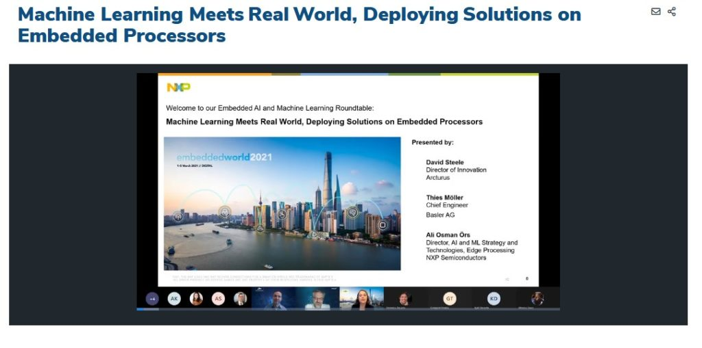 Embedded World - NXP Edge AI Round Table i.MX 8M Plus