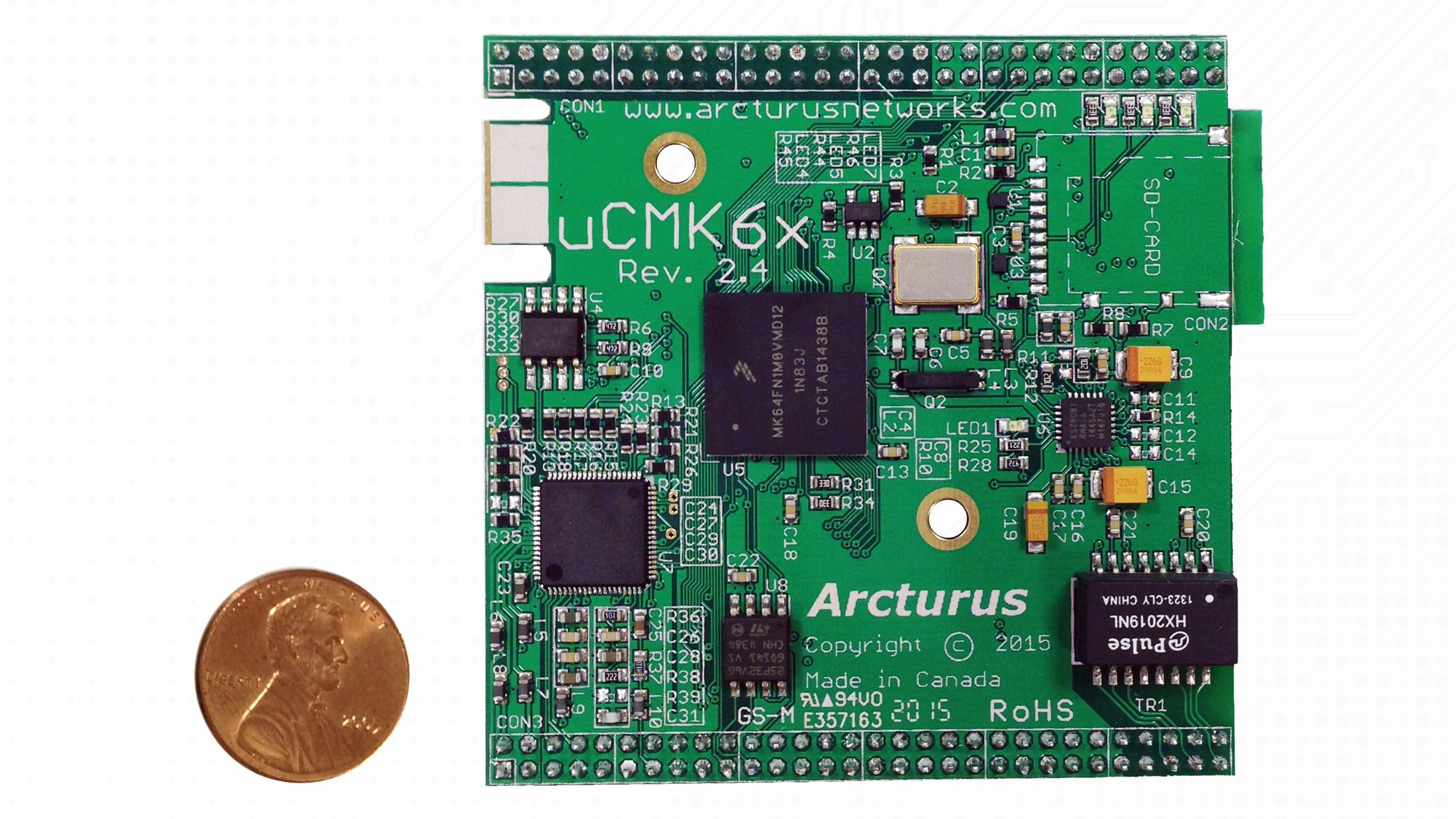 uCMK64-VoIP Module Top