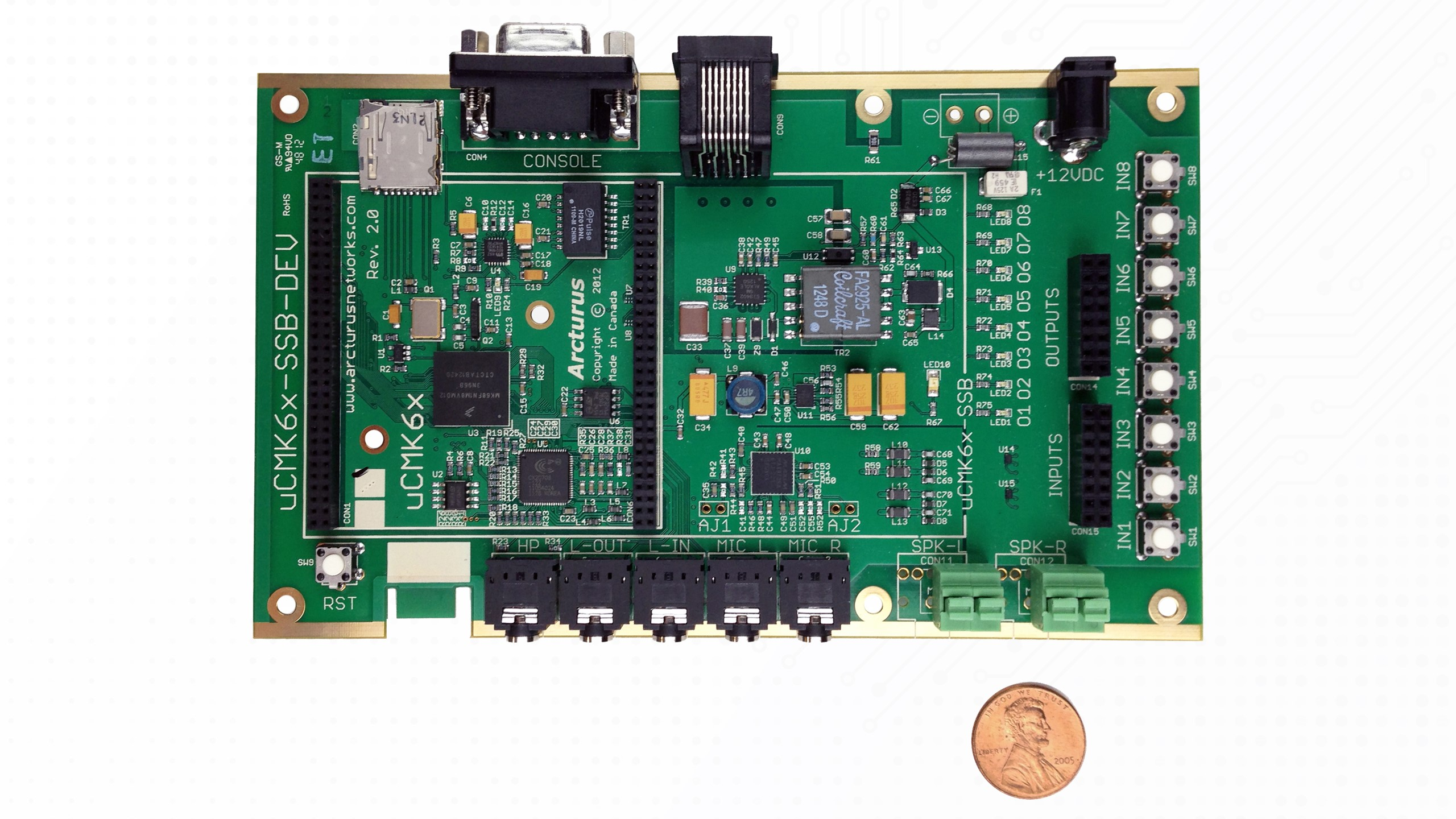 uCMK64-VoIP System Solution Board